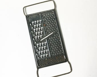 Grater All in One 1950s Metal Food Grater cheese grater Kitchen utensil rustic kitchen