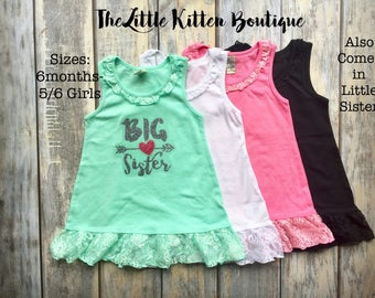 Big Sister Dress, Big Sister Shirt, Little Sister Dress, New Baby Announcement, Im gonna be a big sister, sister shirts, Baby Shower Gift