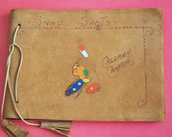1930s Suede Leather Photo Album Calgary Alberta Canada
