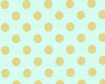 Mist Glitz Quarter Dots Pearlized From Michael Miller Fabric's Glitz Collection