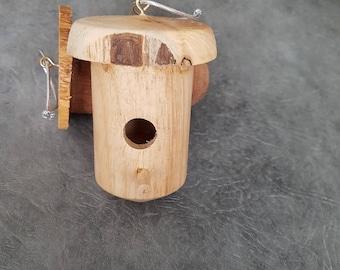 Miniature birdhouse ornament