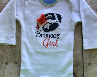 Denver Broncos Girl Shirt or bodysuit