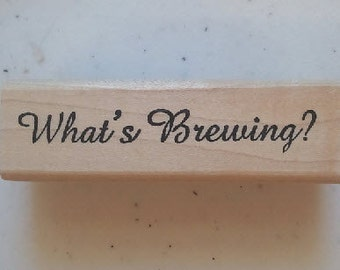 What's Brewing Rubber Stamp - 5W05