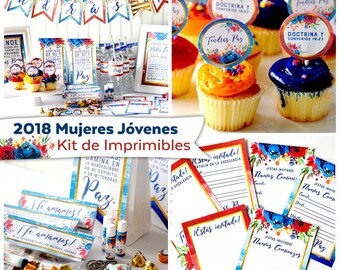 2018 Mujeres Jovenes Kit de Imprimibles | 2018 Young Women Printables in Spanish | Instant Digital Download