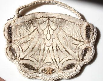 Art Deco Beaded Czech Wedding or Evening Bag