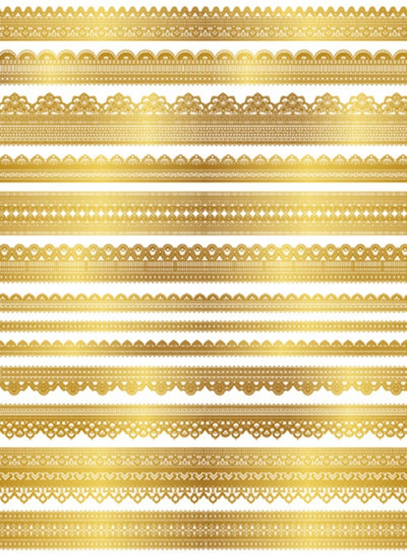 Instant Download Digital Gold Lace Dolly Clipart Golden Lace