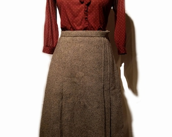 1960's 'Matchmakers' by Spirella Wool Tweed Pleated Skirt