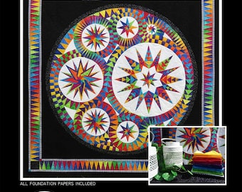 """Be Colourful Quilt Pattern - Infinity - Foundation Paper Piecing - 73.5"""" x 73.5"""" - BC1602"""