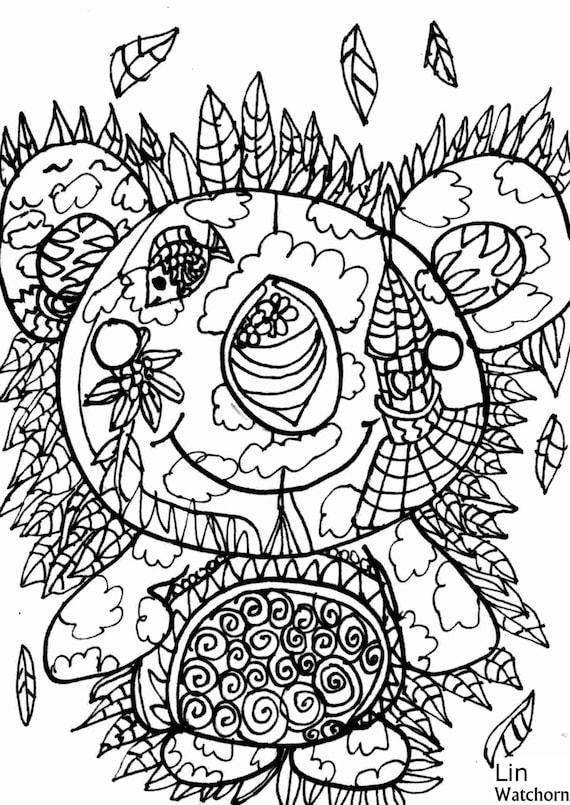 Koala para colorear página handdrawn