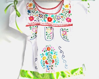 Baby bohemian dress Baby baptism dress boho baby clothes girls flower girl outfit Mexican hipster baby clothes romantic sun cowgirl dress