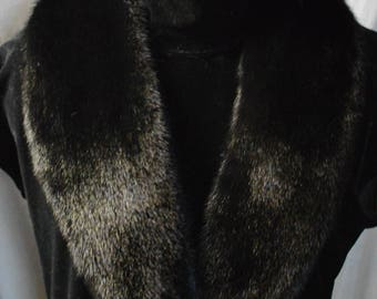 Real Black Mink  fur Collar Men Women detachable new  made in usa authentic  Genuine