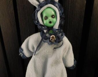 "Catori 8"" OOAK Porcelain Horror Doll"