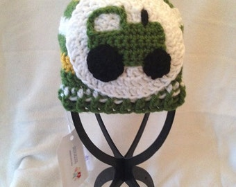 Green Tractor Hat 9-12 months