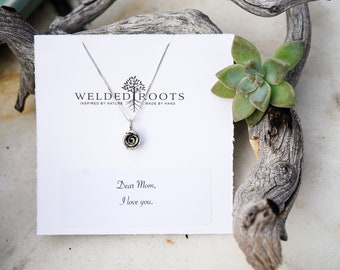 Rose Necklace, .925 Sterling Silver Necklace, Bridesmaid Gift, Birthday gift, Mother's Day Gift