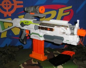 Nerf Modulus ECS-10 Modified (Tamiya motors,re-wired. Blasterparts +