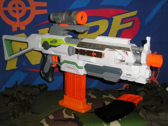 Nerf Modulus ECS-10 Modified (Tamiya motors,re-wired. Blasterparts + worker  parts.