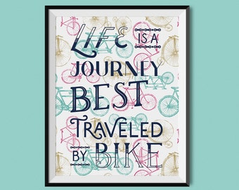 Best Traveled by Bike Print