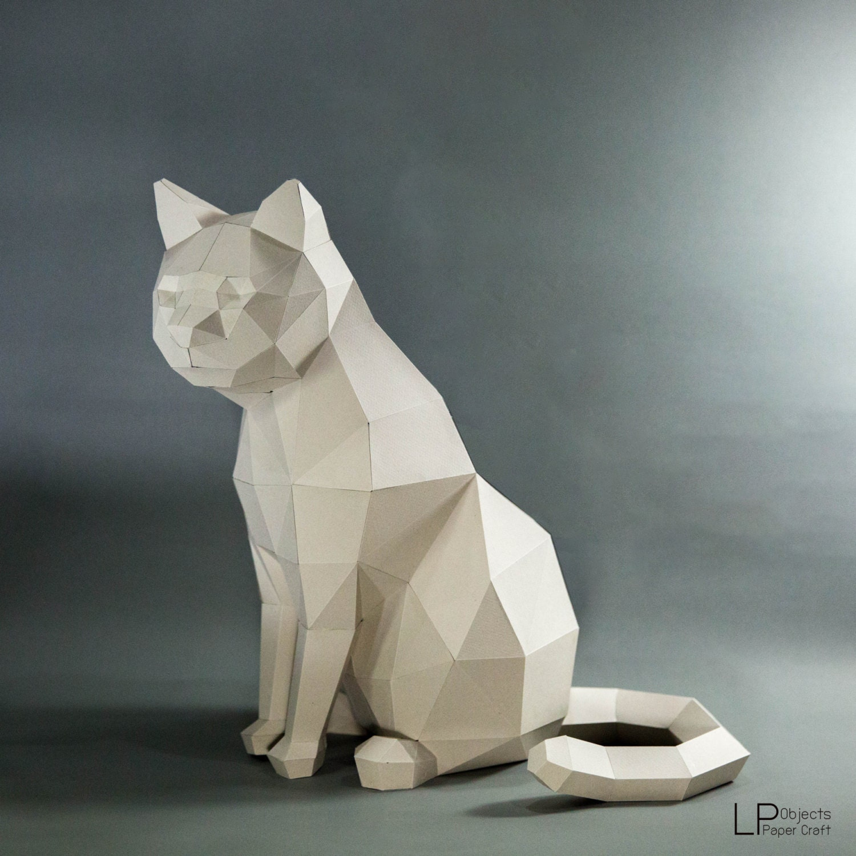 Cat model cat low poly cat sculpture pet cat kit zoom jeuxipadfo Image collections