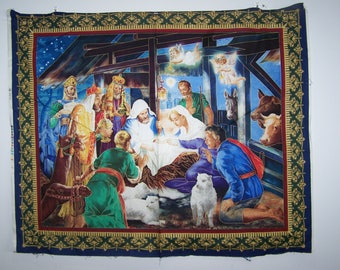 Silent Night Panel With Coordinating Fabric