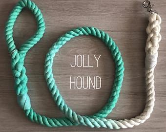 16mm 6 FT Ombré Rope Dog Leash / ombre leash / cotton / rope dog lead / long lead / long dog lead / rope leash