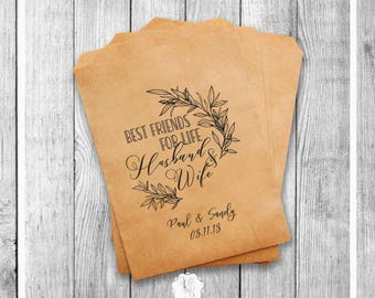 Personalized Wedding Favor Bags Set of 20 - Best Friends - Party Favor Bags Custom  Style 038