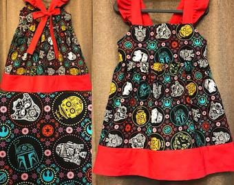 Girls' Ruffle-Sleeved Star Wars Dress