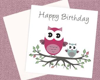 Happy Birthday Owl Card