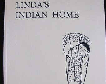Linda's Indian Home // 1969 Hardback // Indian Girl story on Columbia River // ISBN 0832301515 // Near Perfect condition // Not x library