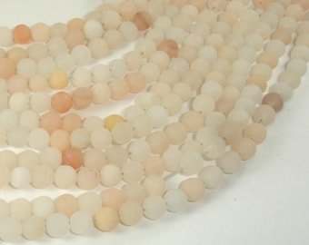 Matte Pink Aventurine Beads, 6mm Round Beads, 15 Inch, Full strand, Approx 64 beads, Hole 0.8mm (353054007)
