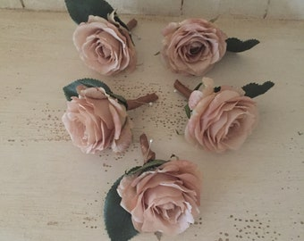 Single Latte' rose Boutonniere