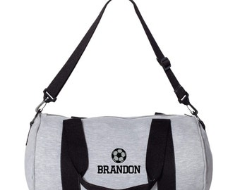 Soccer Monogrammed Gym Bag. Personalized Duffel Bag. Embroidered Gym Duffle Bag. Monogram Gym Duffle Bag. Personalized Gym Bag. SS-3395