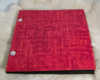 Red Leather Photo Album