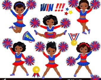 cheerleader clipart etsy rh etsy com free clipart images of cheerleaders free animated clipart of cheerleaders