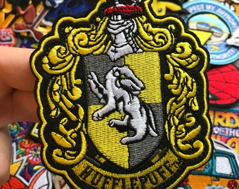 Harry Potter Hufflepuff Iron-On / Sew-On Embroidered Patch, Custom Patch, Limited Edition Patch, Patches, Pins, Embroidered