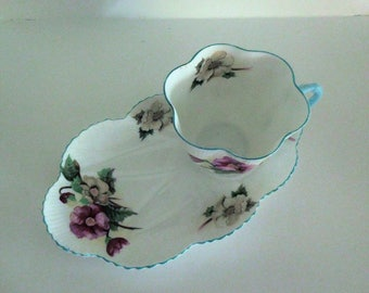 Shelley Fine Bone China Tea and Toast set - Begonia