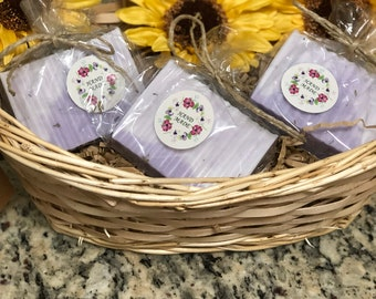 Lavender & Vanilla Shea Butter soap, pack of 3