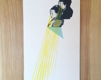Screenprint // Collage // Woman // Fantasy