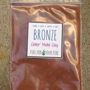 bronze metal clay powder ecofriendly art supplies 50 grams
