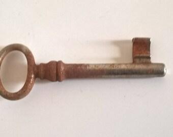 Antique key Vintage 1960/1970 in metal 7h cm