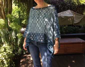 CROCHET PATTERN ONLY Light and Breezy Sweater Shawl  - super easy crochet pattern in two sizes