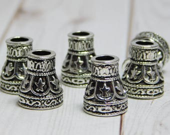 6pcs - 12x10mm - Tassel Caps - Bead Caps - Metal Caps - End Caps - Tassel Supplies - Metal Findings - (A63)