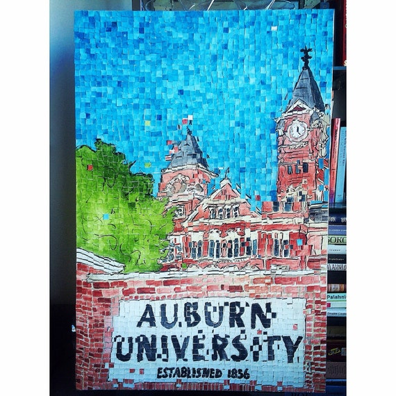 "Auburn University Samford Hall Architectural Art: 24""x36"" Original Painting"