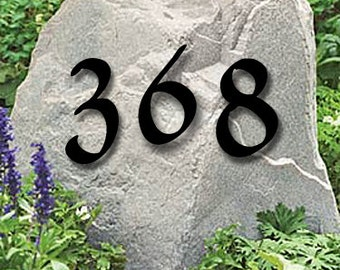 Set of 3 Powder Coated House Numbers or Letters / 2 Inch up to 8 Inch / Address / Metal / Business / Colors / Office / Powder Coated