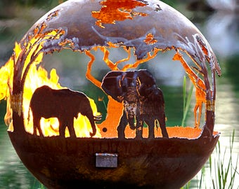 African Safari Fire Pit Sphere