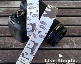 DSLR Camera Strap Wild Forest | Accessories | Soft Cotton | Live Simple®