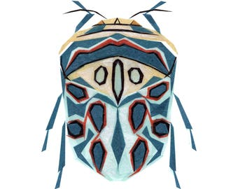 Picasso Bug - Bug Art Print, Bug Decor, Insect Art Print