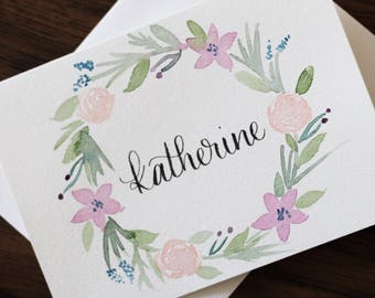 Bridesmaid Card Personalized Bridesmaid Gift Bridesmaid Proposal Card Floral Bridesmaid Name Card Maid of Honor Matron of Honor Custom Card