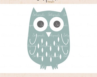 Owl - SVG and DXF Cut Files - for Cricut, Silhouette, Die Cut Machines // scrapbooking // paper crafts // solipandi // #184