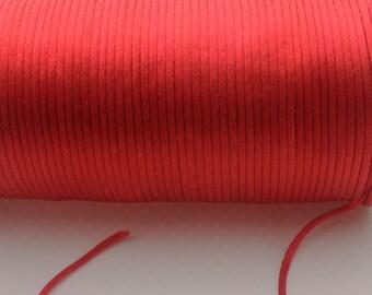 10 yards 2mm  Red Satin Rattail  Kumihimo Cord