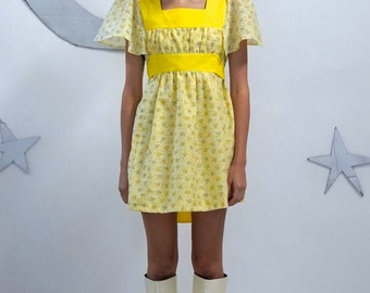 Yellow Mini Baby Doll Dress